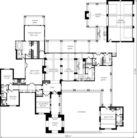 h shaped ranch house plan wonderful courtyard home designs ranch house plans with a courtyard