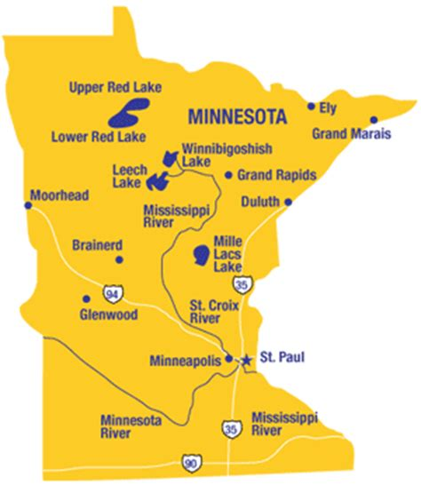 Minnesota State Background Check Minnesota Maps And State Information