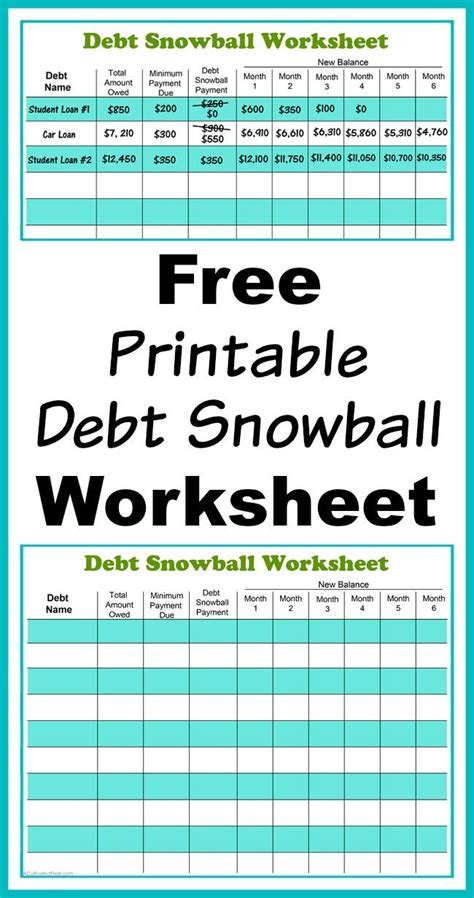 7 best images of bill pay off chart free printable monthly bill