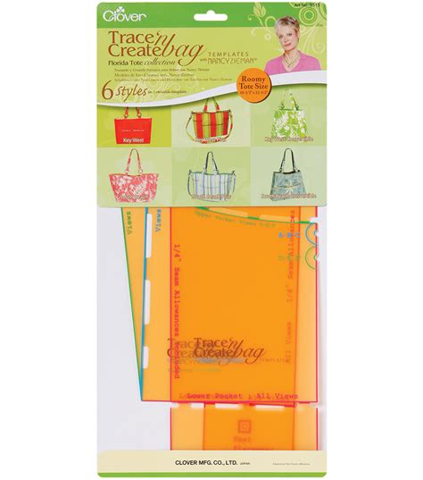 Trace N Create Bag Templates clover trace n create bag templates with nancy zieman