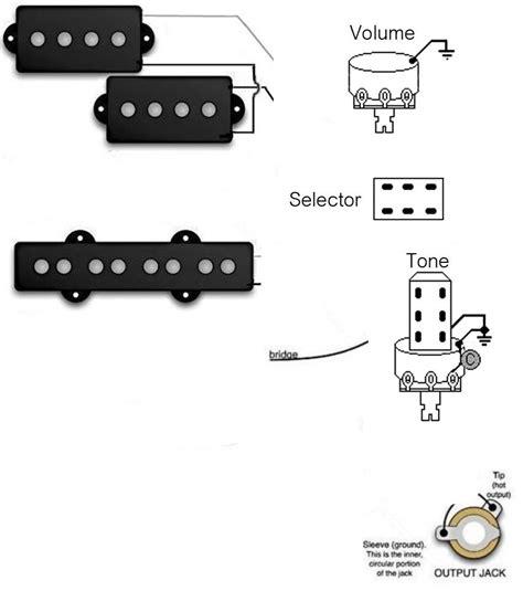 wiring  seriesparallel   switch   pj bass bass