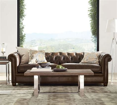 Pottery Barn Chesterfield Sofa Chesterfield Leather Sofa Pottery Barn