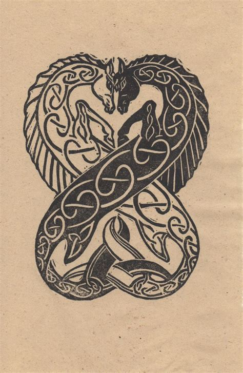 celtic animal tattoos designs celtic seahorses inocut celtic seahorses