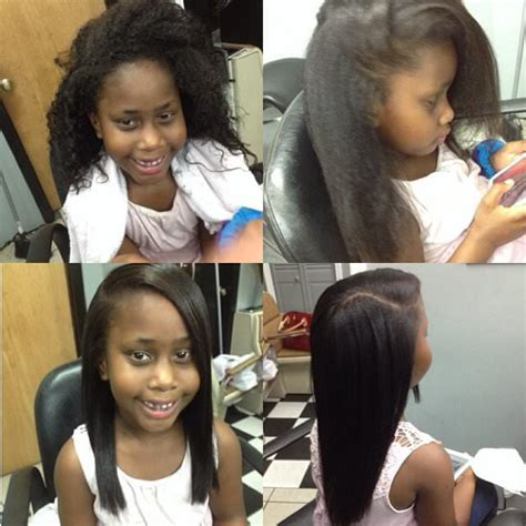 flat ironed hairstyles for kids child s hair flat ironed michrich2 black hair information