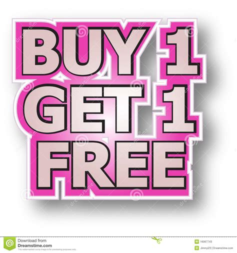 one free buy 1 get 1 free stock vector illustration of promotions
