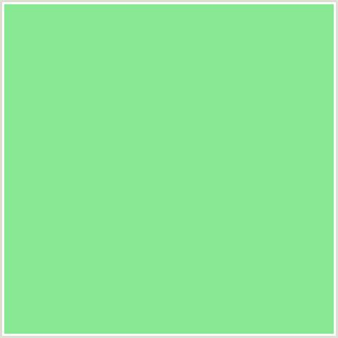 89e894 hex color rgb 137 232 148 green pastel green