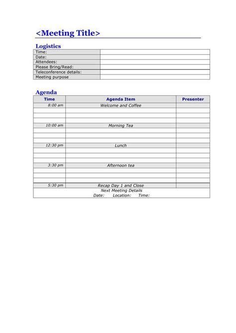 meeting agenda template download free premium