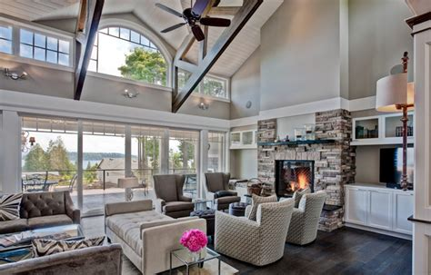 port orchard custom home traditional family room
