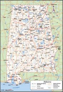 alabama county wall map maps
