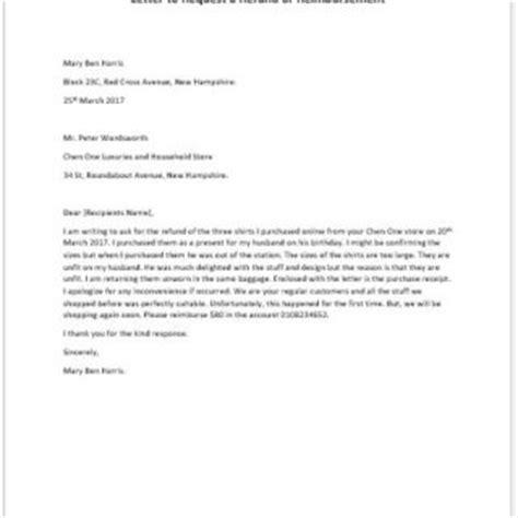 Request Letter Reimbursement Formal Official And Professional Letter Templates Part 2