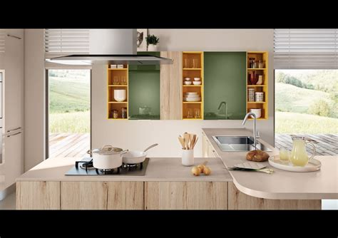 Swing Kitchen by Swing Kitchen With Peninsula By Lube Industries S R L