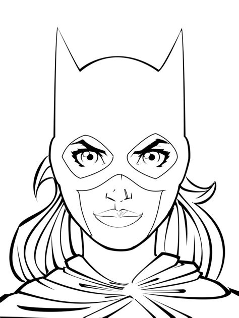 batgirl coloring pages coloring pages