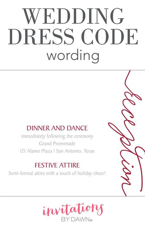 wedding invitation attire etiquette the 25 best wedding dress code wording ideas on
