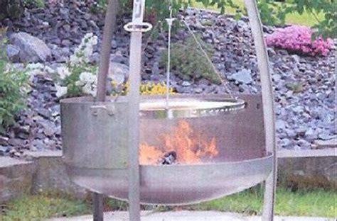 feuerschale grill chromstahl feuersch 252 ssel gerundet