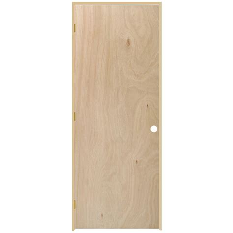 Home Depot Prehung Interior Door Steves Sons 36 In X 80 In Flush Hollow Unfinished Hardwood Single Prehung Interior Door