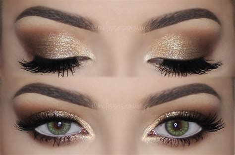 Eyeshadow Shimmer gold glitter eye makeup tutorial www pixshark