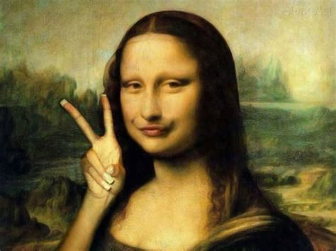 painting mona if mona was on instagram