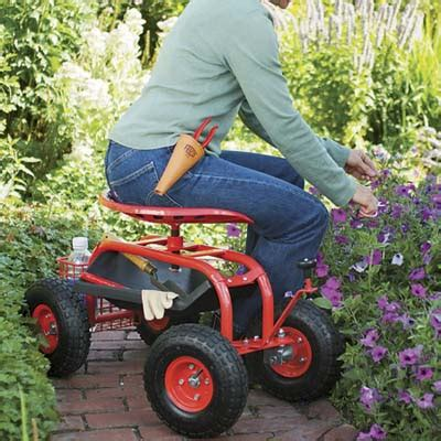 garden scooter tractor seat rolling with the roses wackiest yard and garden products