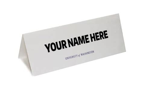 meeting name card template table tent uw brand