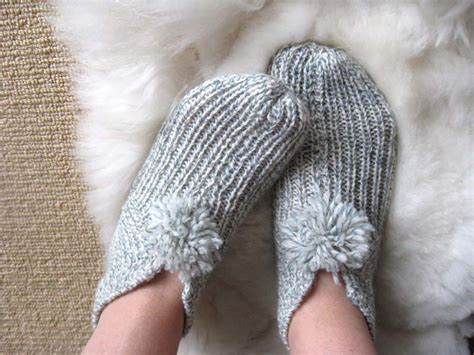 easy knitted slippers free pattern patterns knit slippers 171 free patterns