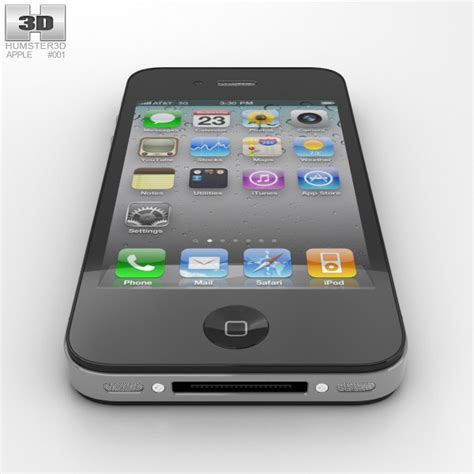 Point 3d 3d Model Of Iphone 4 by Apple Iphone 4 3d Model Hum3d