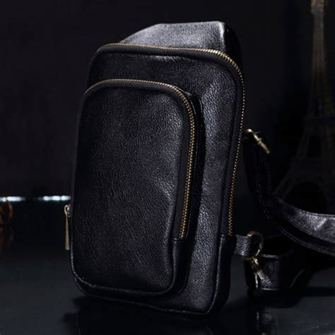 Tas Fashion Selempang Trendy High Quality C288 Black Tas Selempang Kulit Premium Black Jakartanotebook