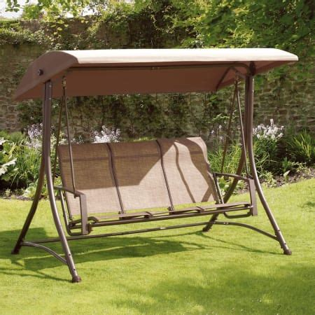 Garden Swing by Suntime Bronze 3 Seat Garden Swing Gardens