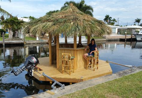 tiki hut boat for sale another mai tai captain a floating tiki bar boat