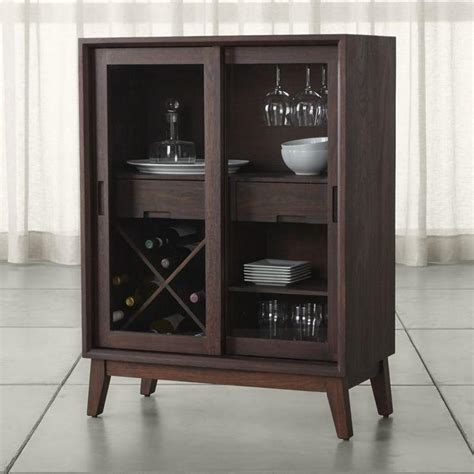 Glass Door Bar Cabinet Vineyard Distressed Glass Door Bar Cabinet Care Partnerships