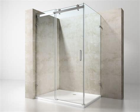 doccia in due box doccia rettangolare senza profili a due lati