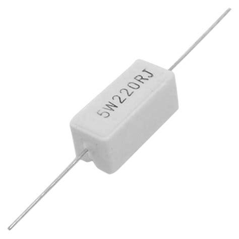 resistor keramik 2x 10 stueck axialzuleitung keramik zement leistungswiderstand 220 ohm 5w de ebay