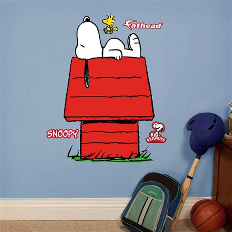 snoopy wall stickers snoopy fathead jr wall decal shop fathead 174 for peanuts