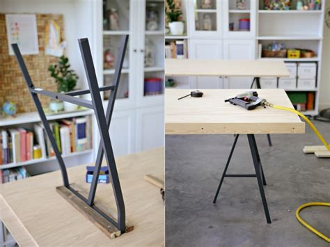 diy trestle table legs diy ikea lerberg trestle leg tables 187 ashleyannphotography