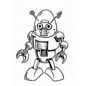 Robots Free Printable Coloring Pages Little