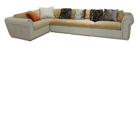 crocodile leather couch dreamfurniture com modern beige crocodile leather sofa