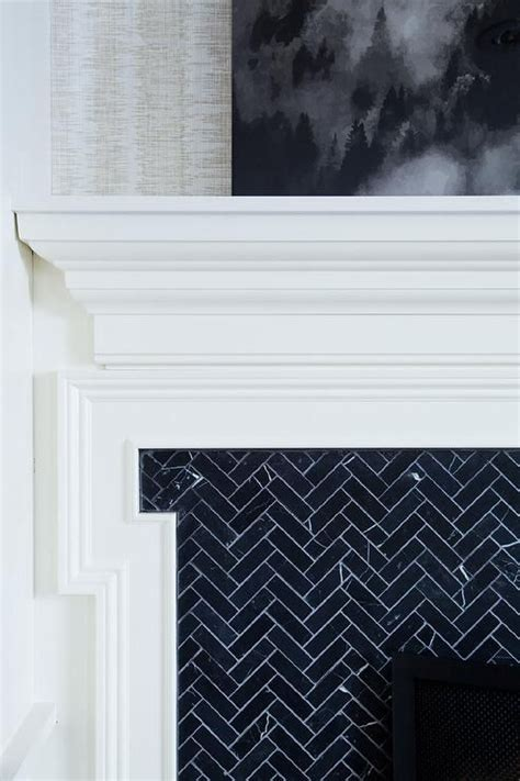 herringbone tile fireplace best 25 herringbone fireplace ideas on
