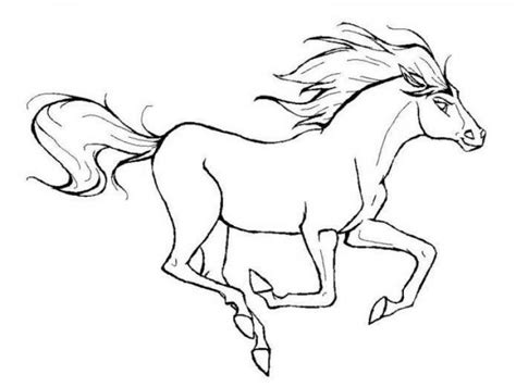 coloring page of horse running running horse pictures to color