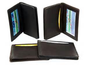 s leather credit card holder leather credit card id holder slim design black s wallet ebay