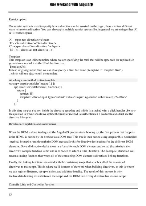 angularjs directive template one weekend with angularjs