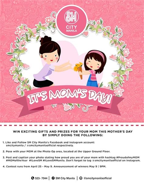 Promo Day mothers day promo promos contests sales and discounts