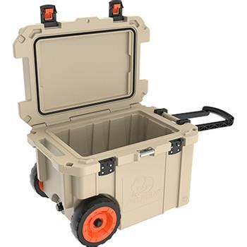 pelican 45 qt cooler accessories pelican 45 qt elite cooler with wheels tan lowest prices