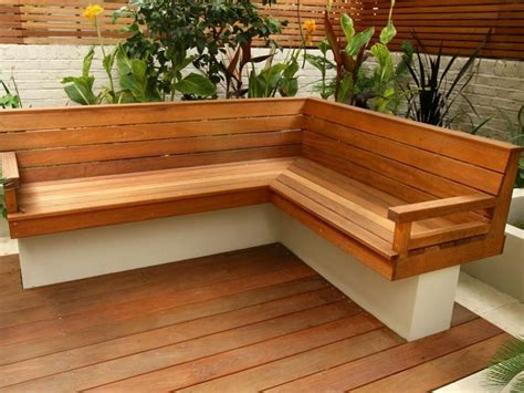 backyard bench seating outdoor corner bench homesfeed