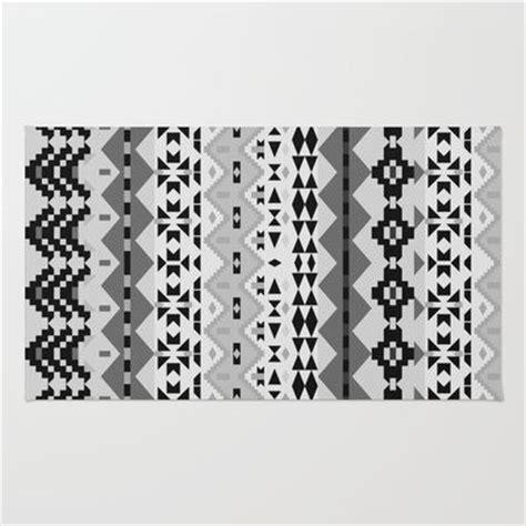 black and white aztec rug black and white aztec rug by ornaart
