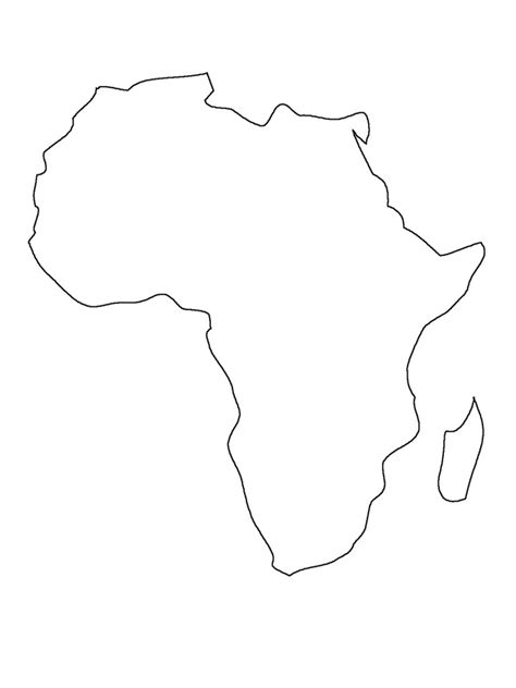 printable map africa countries printable map of africa preschool pinterest africa