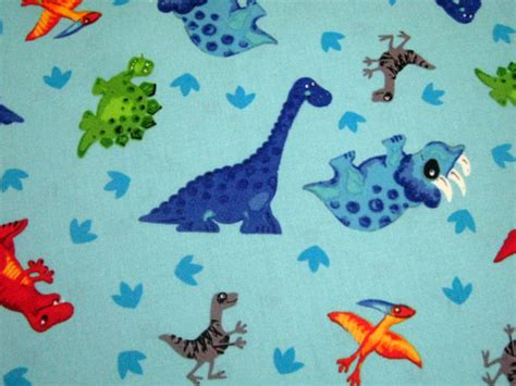 dinosaur cotton fabric 1 2 yard by newenglandquilter