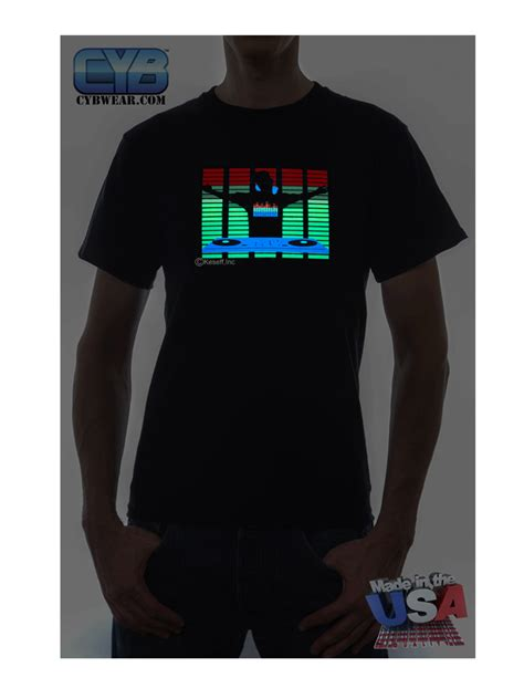 sound activated light up shirts el panel tshirts sound activated light up tshirt the