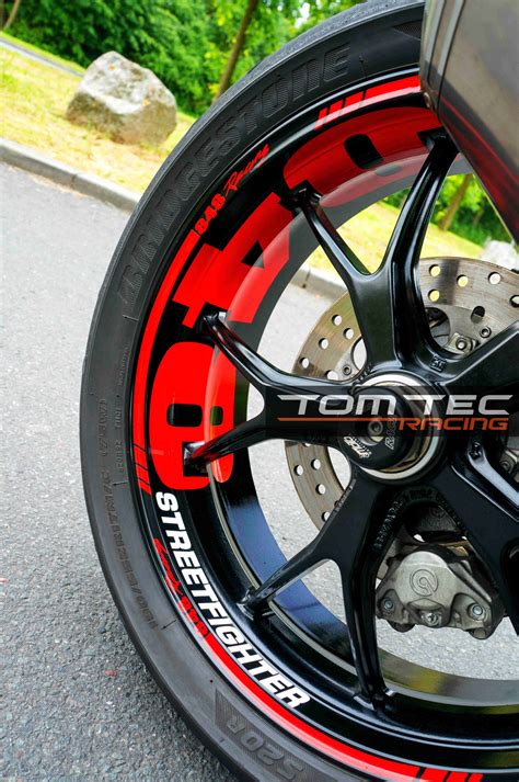 Ducati Performance Felgen Aufkleber by Wheel Sticker Ducati Streetfighter 848 1098 1198 S Naked