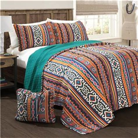 aztec print bedding bold rustic orange turquoise yellow global aztec print 4