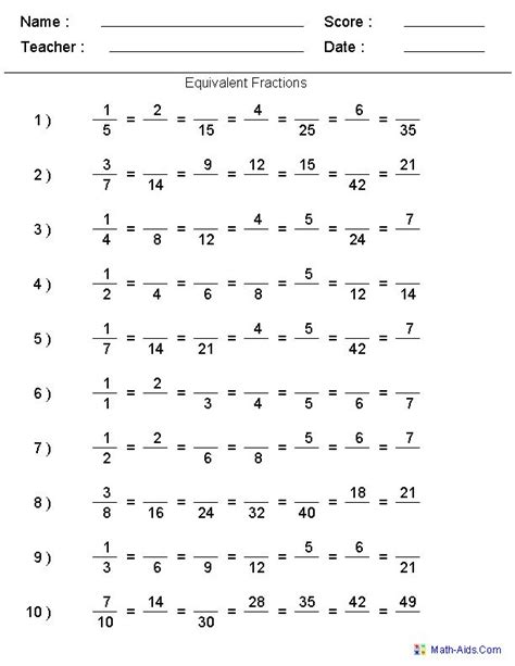 5th Grade Fractions Worksheet by Fractions Worksheets Printable Fractions Worksheets For
