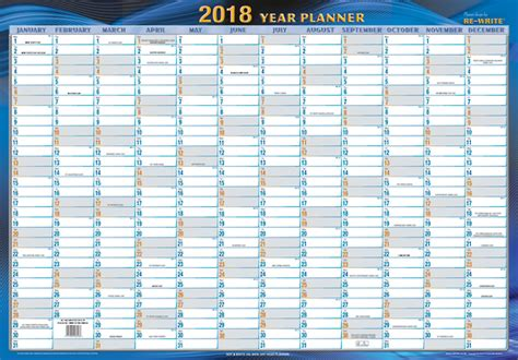 printable wall planner 2016 nz writeraze 2018 year planner unlaminated 500mm x 700mm